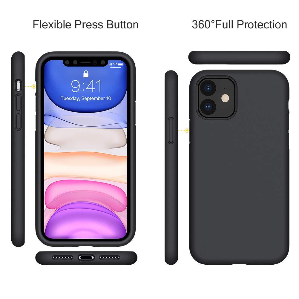 iPhone 11 Pro Max 6.5 Silicone Case , Liquid Silicone Full Body Thickening Design Phone Case